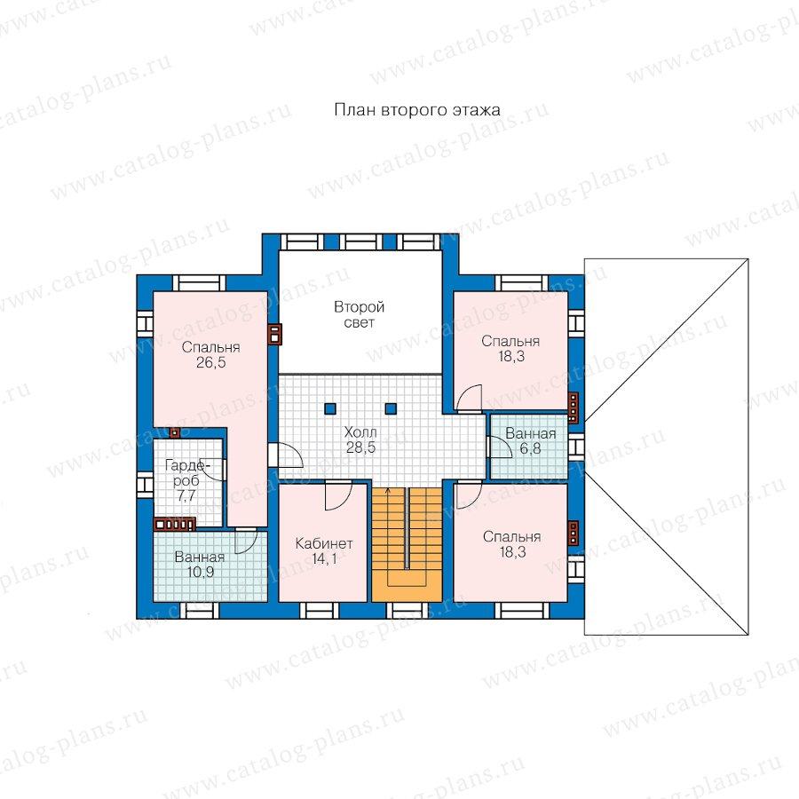 План 2-этажа проекта 62-11