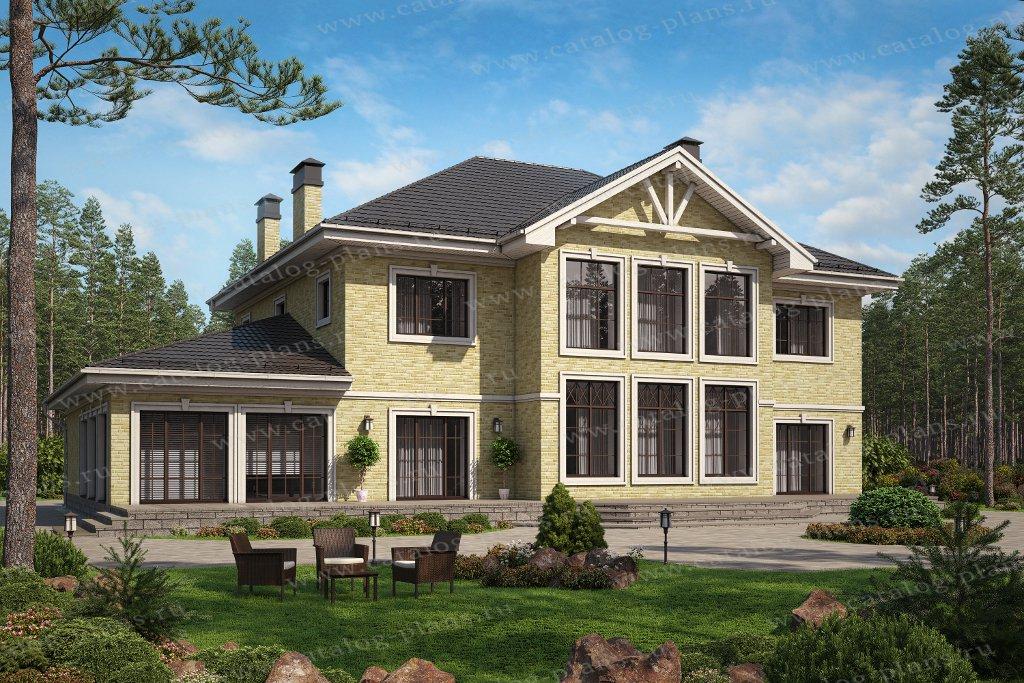 Проект жилой дом #62-11 материал - газобетон, стиль