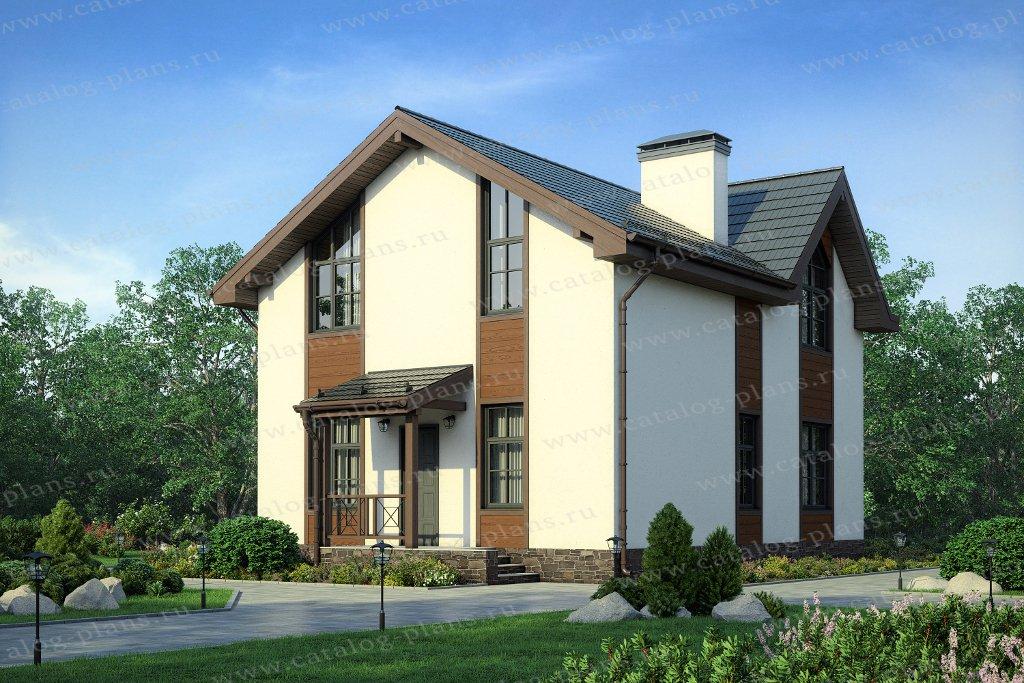 Проект жилой дом #57-13А материал - газобетон, стиль