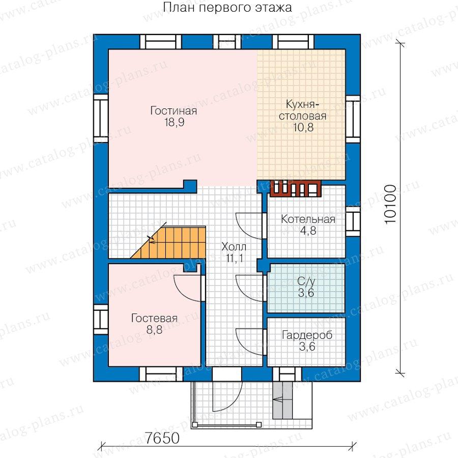 План 1-этажа проекта 57-13А