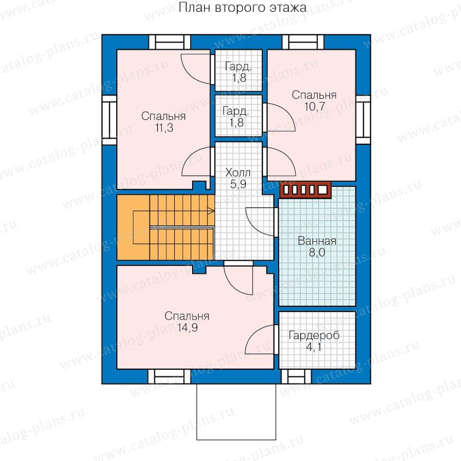 План 2-этажа проекта 57-13А