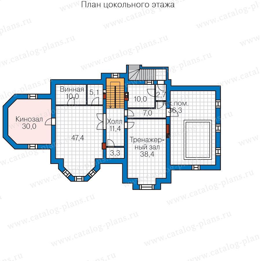 План 1-этажа проекта 40-67A