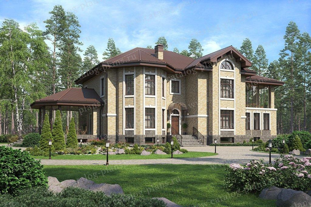 Проект жилой дом #40-67A материал - кирпич, стиль европейский