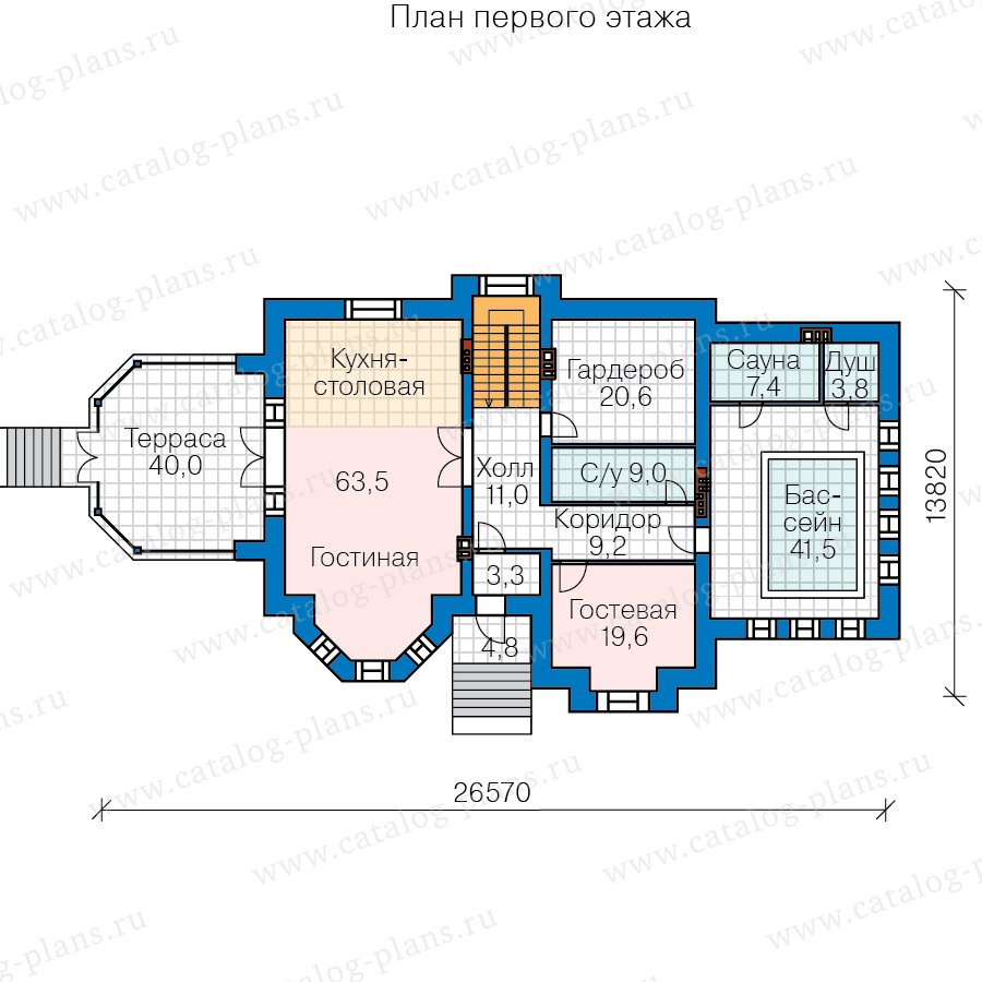 План 2-этажа проекта 40-67A