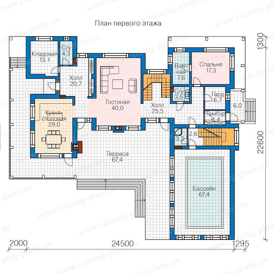 План 2-этажа проекта 40-99