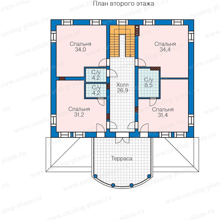План 3-этажа проекта 58-85BKL