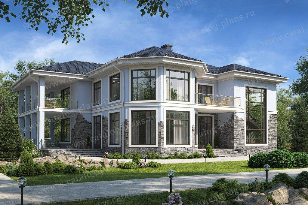 Проект жилой дом #48-21E материал - кирпич, стиль современный