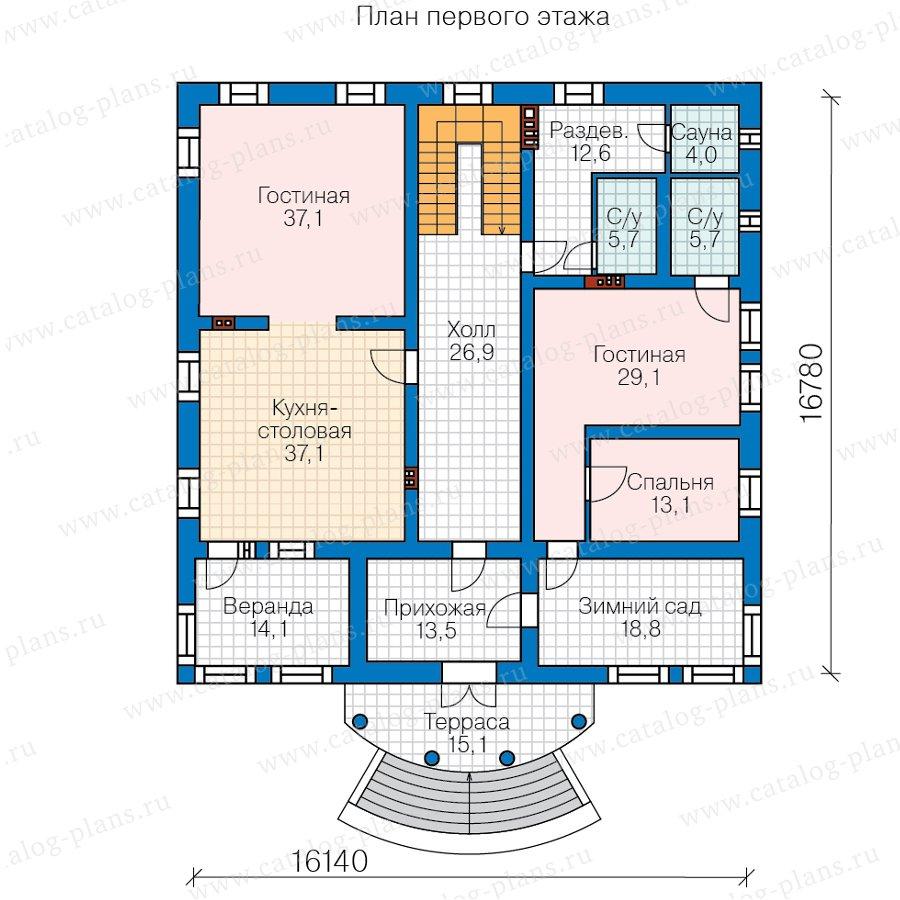 План 2-этажа проекта 58-85BKL