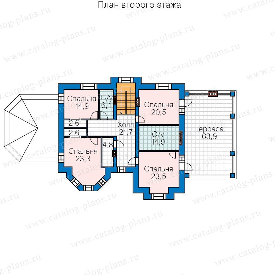 План 3-этажа проекта 40-67A
