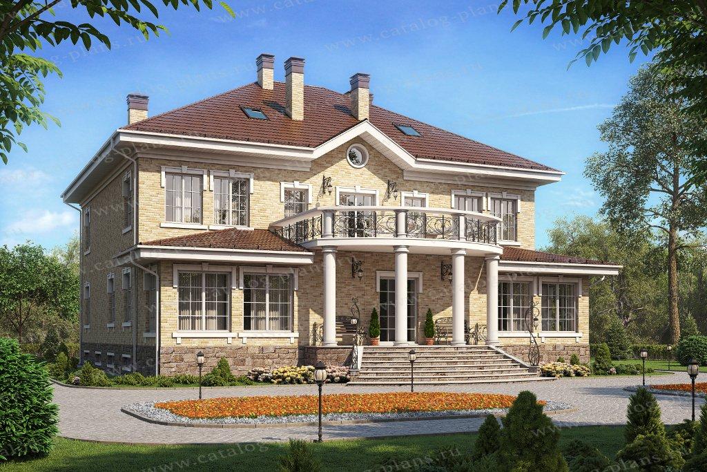 Проект жилой дом #58-85BKL материал - кирпич, стиль