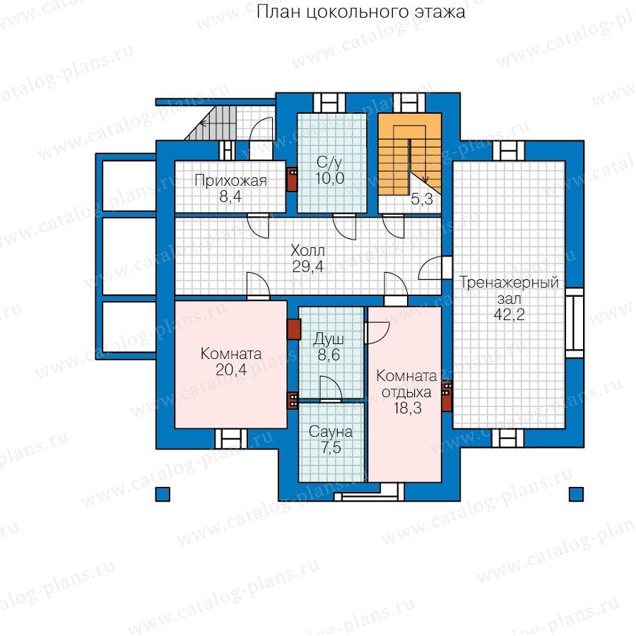 План 1-этажа проекта 48-23CL
