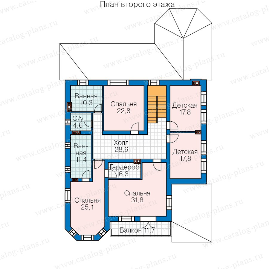 План 2-этажа проекта 57-74AL