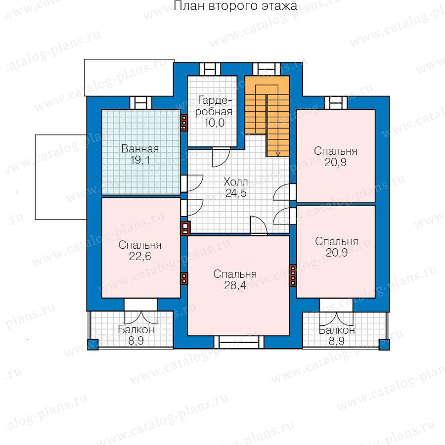 План 3-этажа проекта 48-23CL