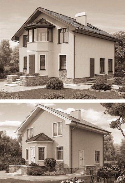 Вариант дома без балкона