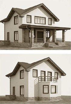 Дополняем проект дома верандой
