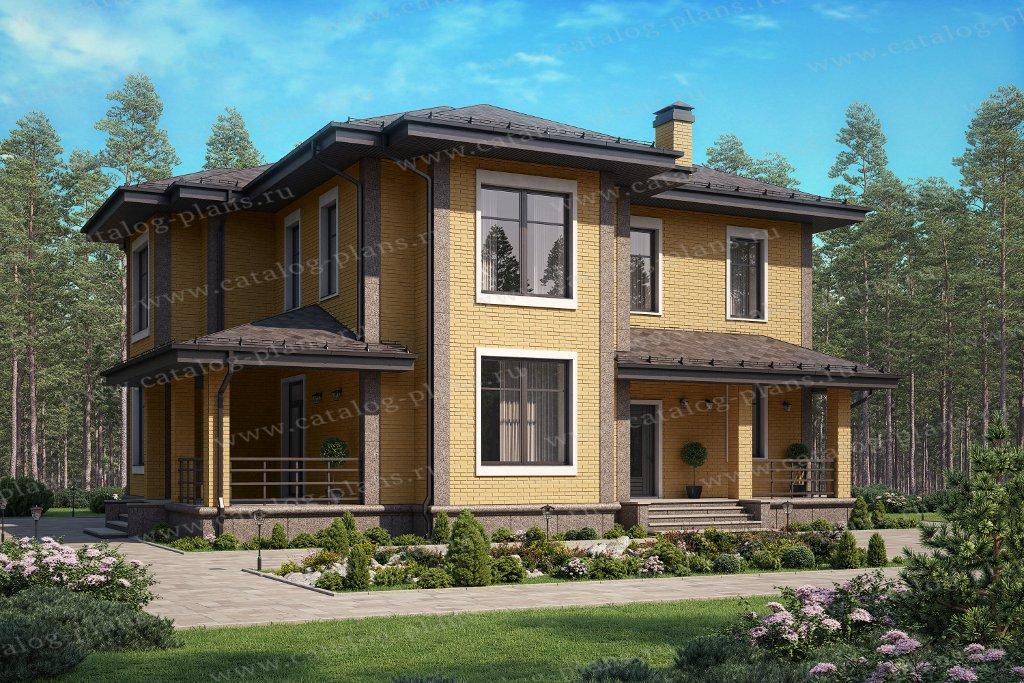 Проект жилой дом #58-07BBricks материал - газобетон, стиль современный