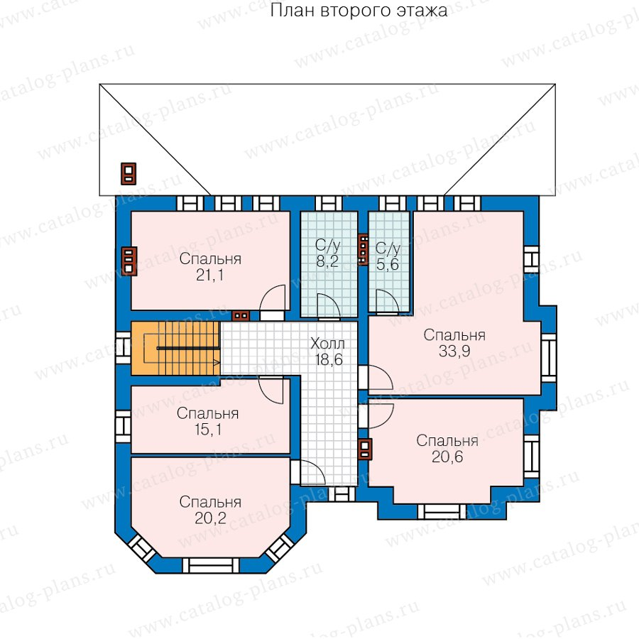 План 2-этажа проекта 40-49AL