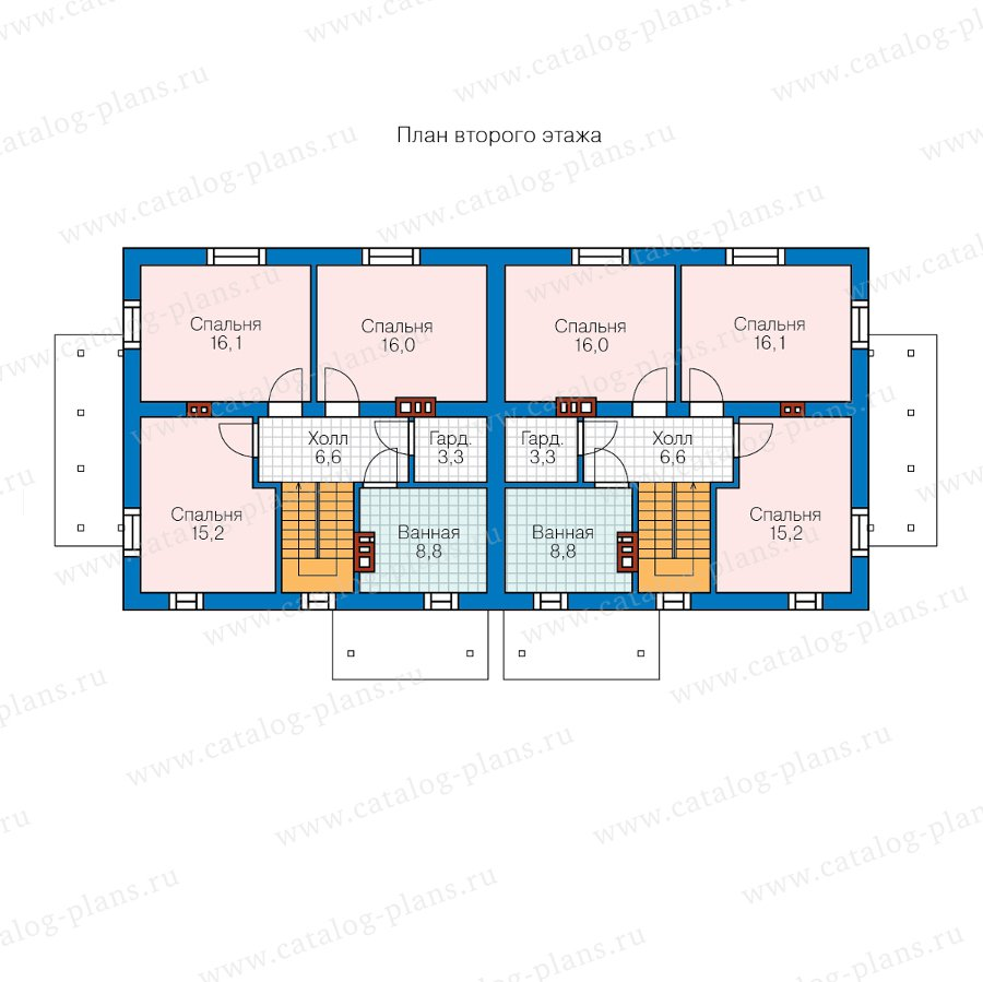 План 2-этажа проекта 40-04W