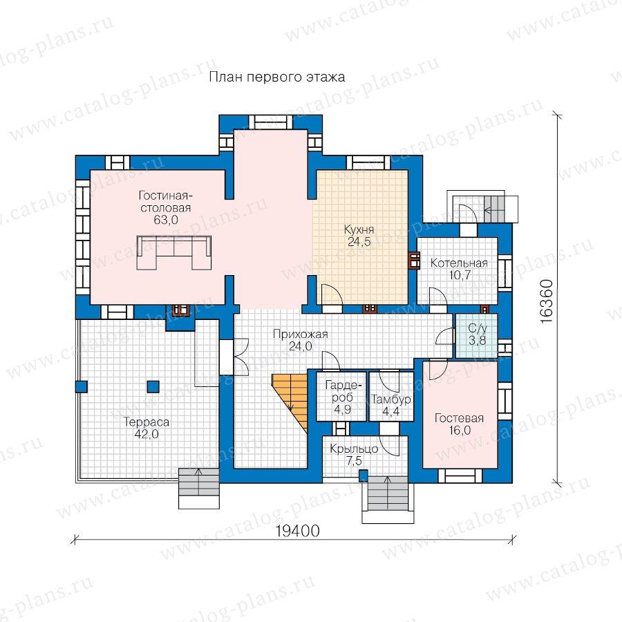 План 1-этажа проекта 45-03
