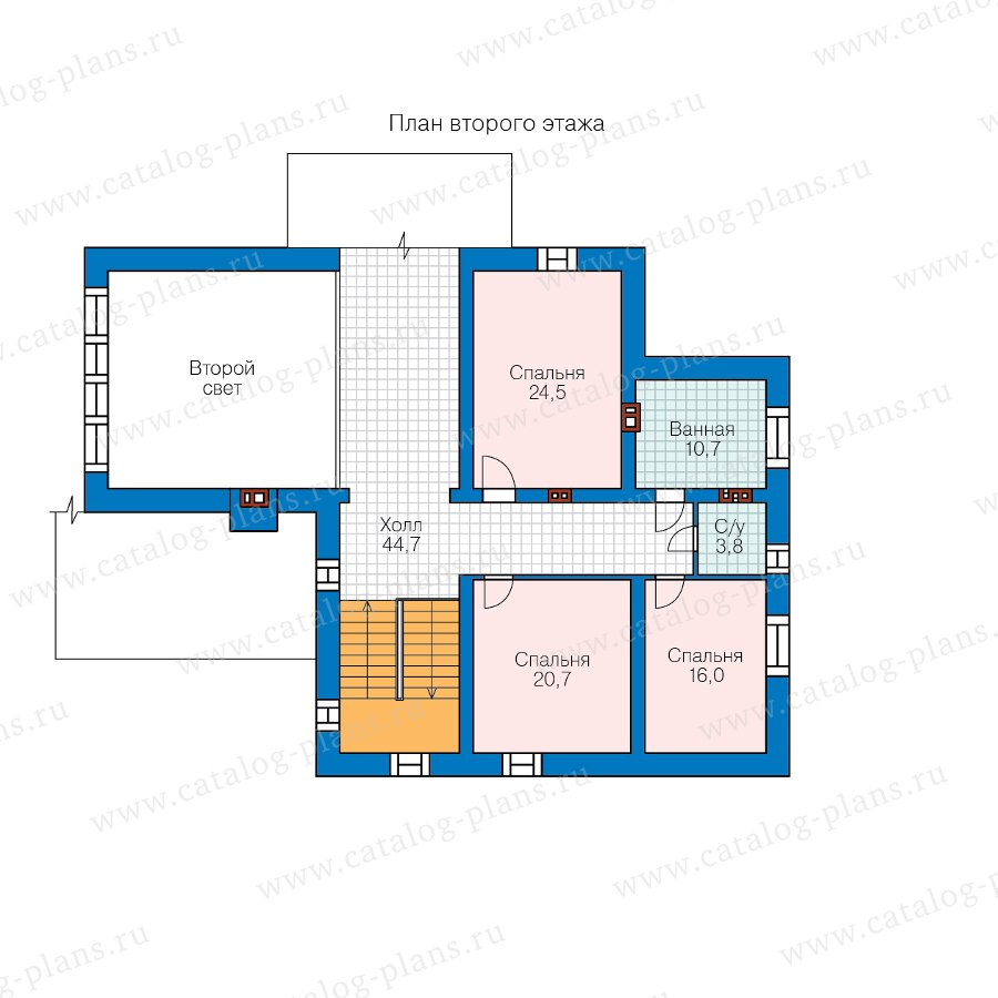 План 2-этажа проекта 45-03