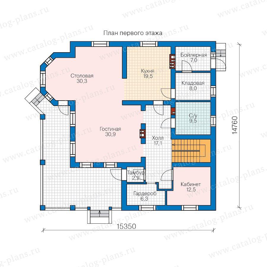 План 1-этажа проекта 57-74D
