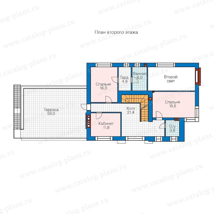 План 2-этажа проекта 40-86AGL