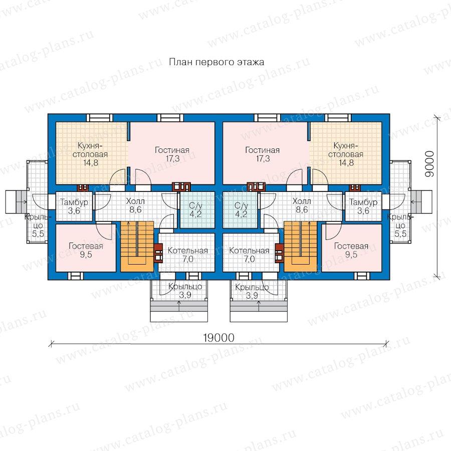 План 1-этажа проекта 40-04W