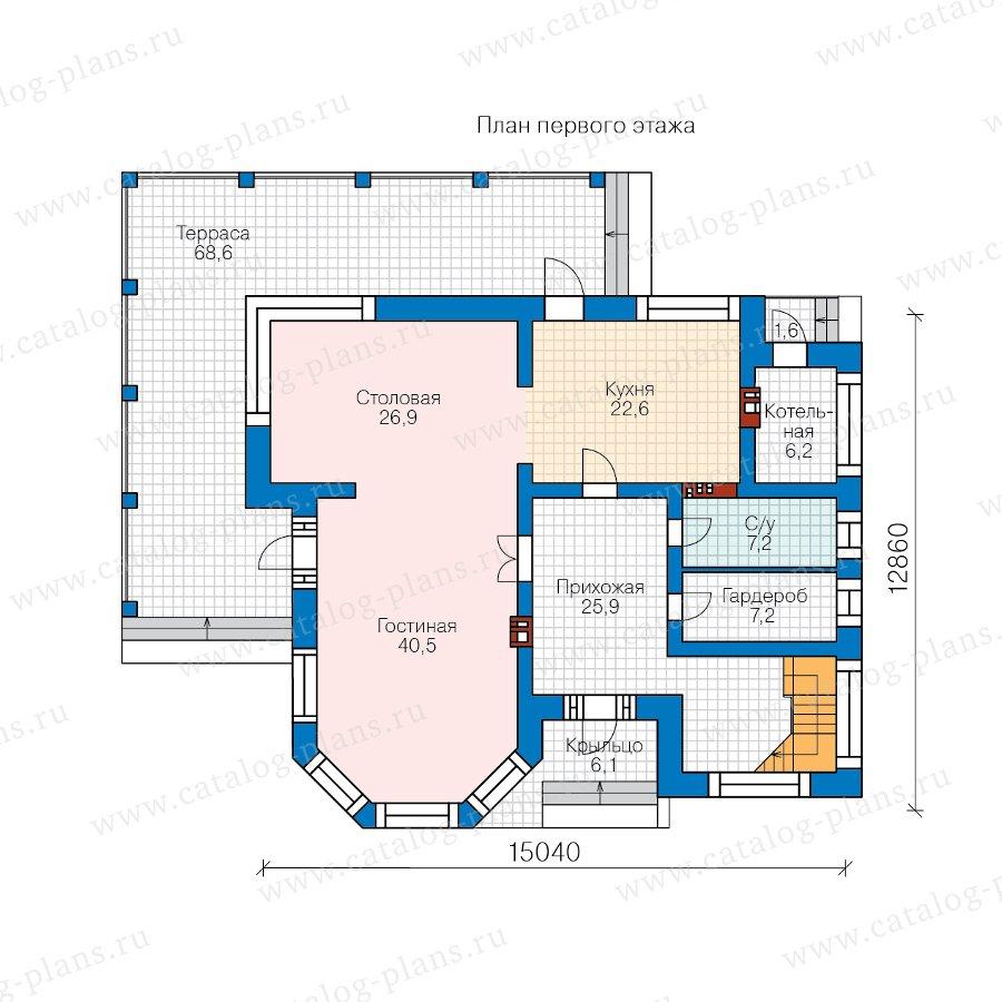 План 1-этажа проекта 48-21E