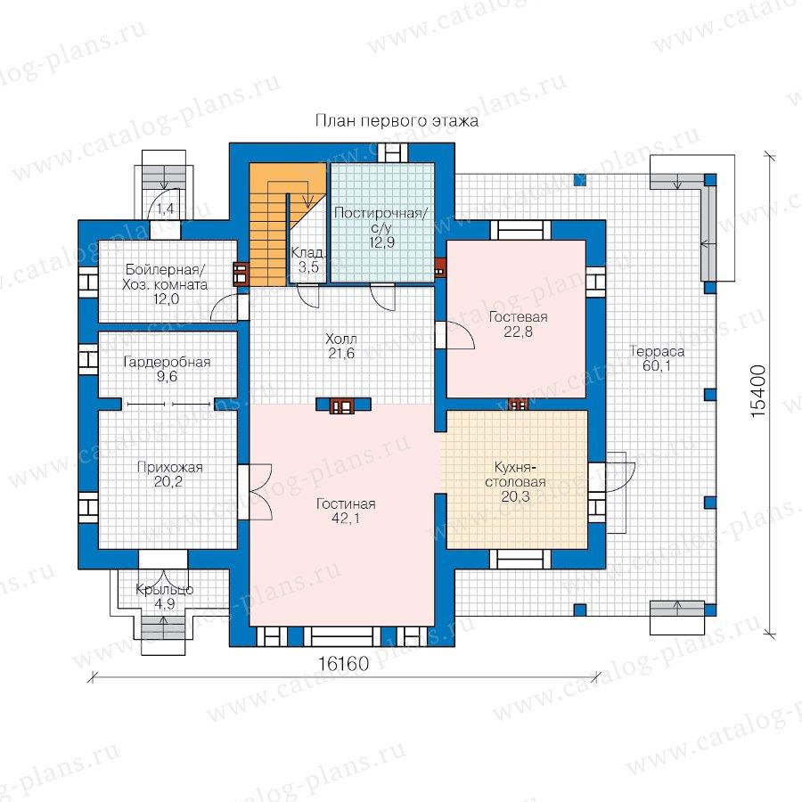 План 1-этажа проекта 40-39DL