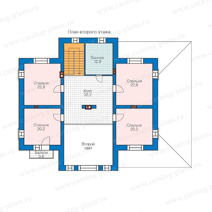 План 2-этажа проекта 40-39DL