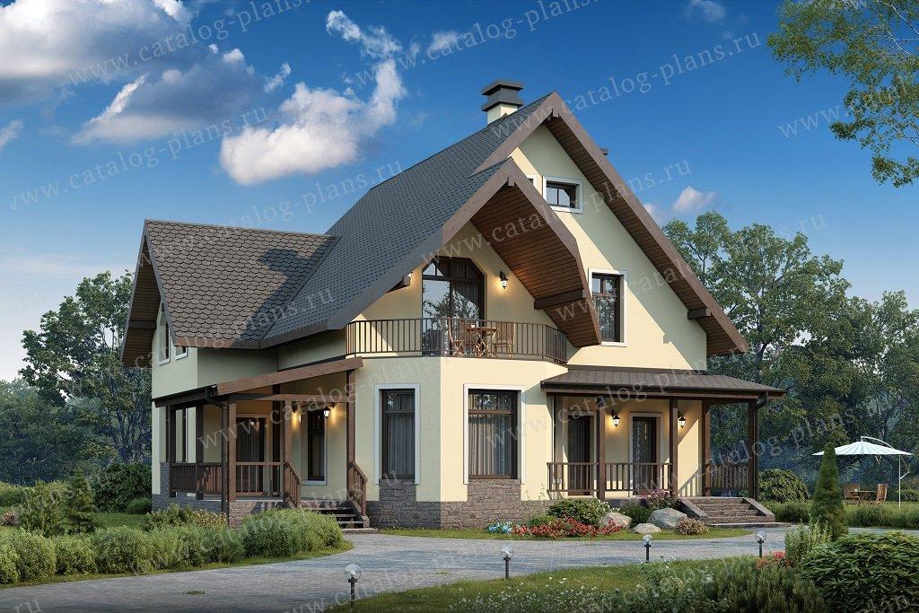 Проект жилой дом #40-05BG материал - газобетон, стиль немецкий