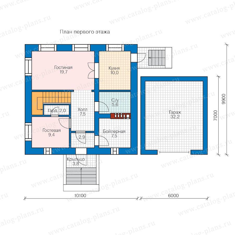 План 1-этажа проекта 57-05F
