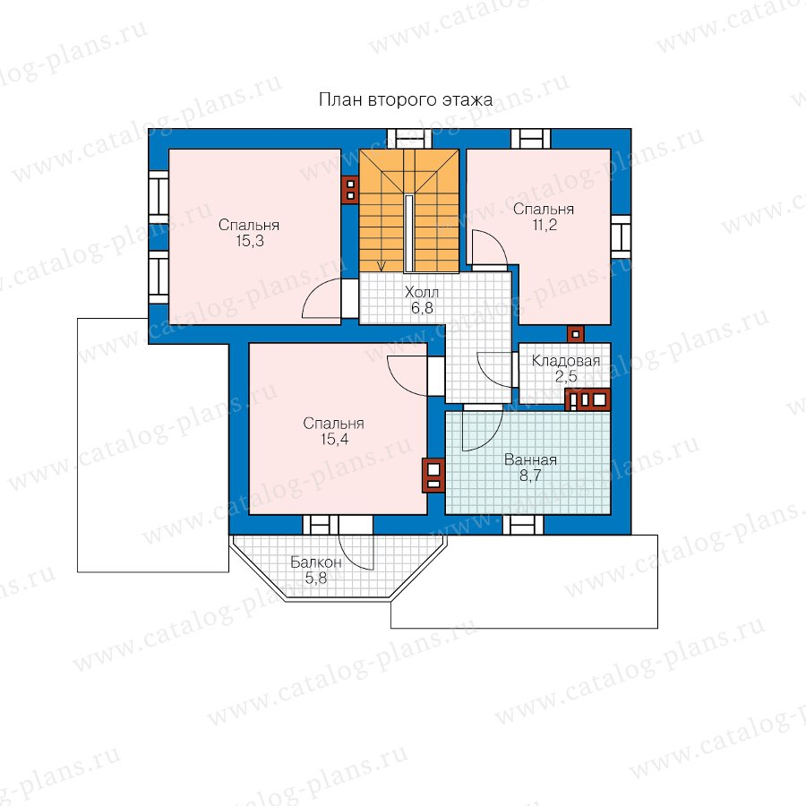 План 2-этажа проекта 40-05BG