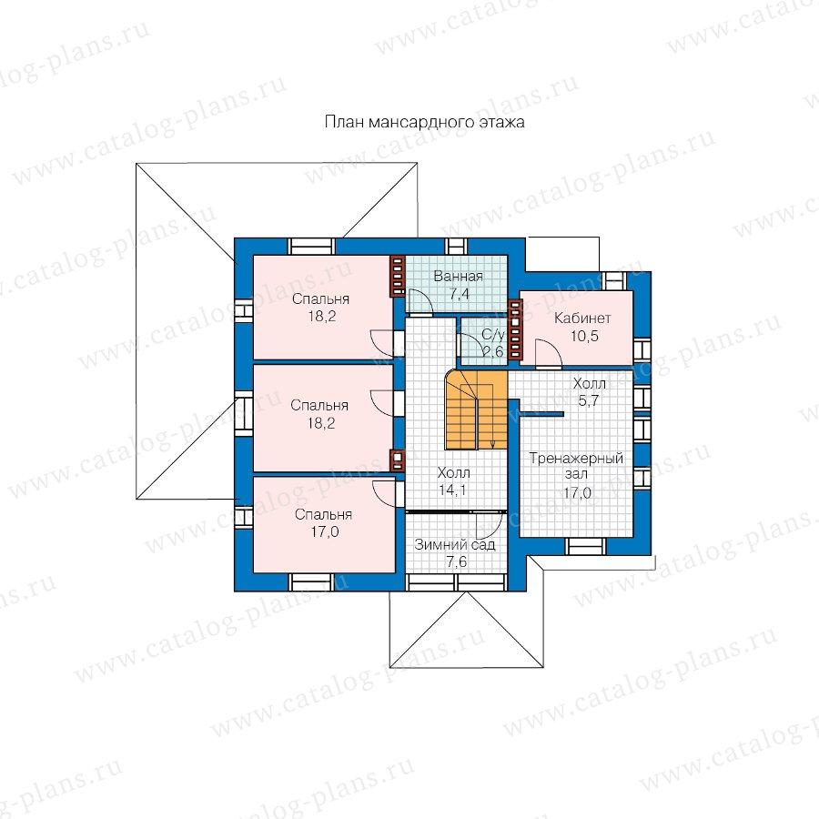 План 2-этажа проекта 57-22AL