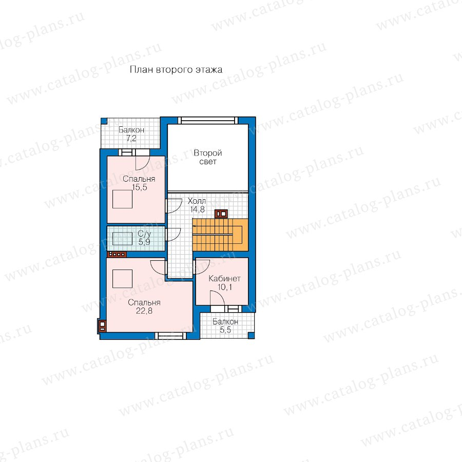 План 2-этажа проекта 58-09AK