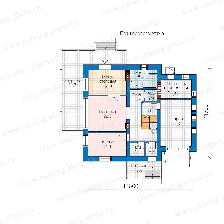 План 1-этажа проекта 57-22AL