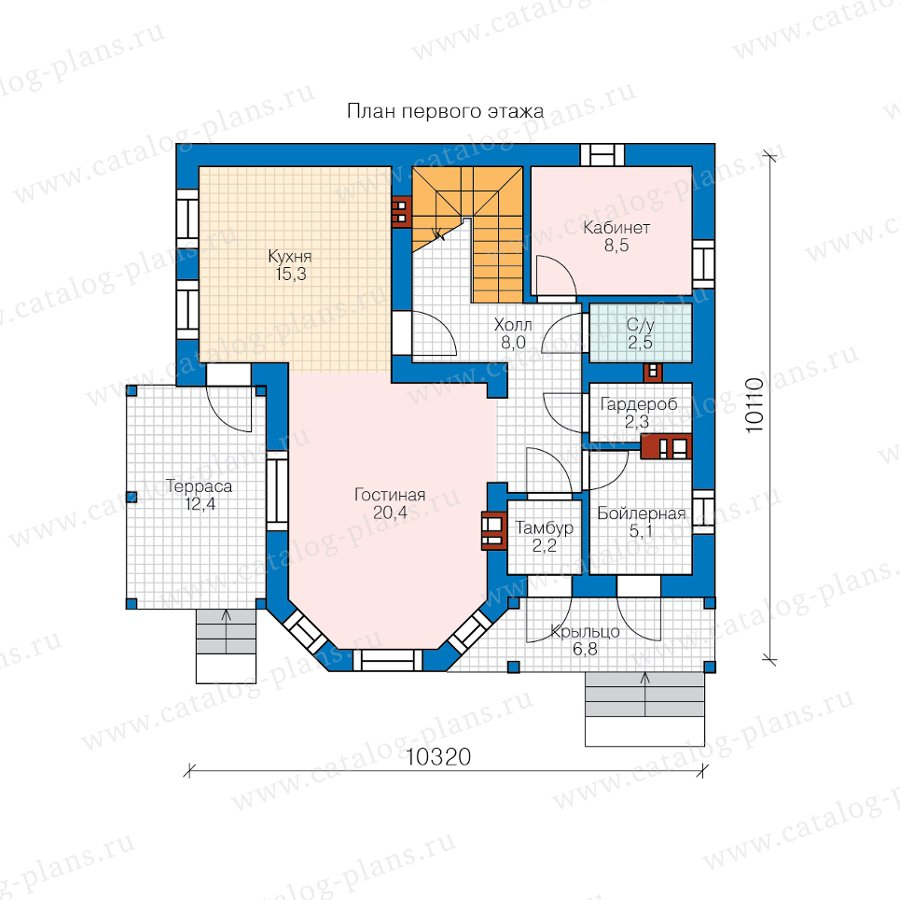План 1-этажа проекта 40-05BG
