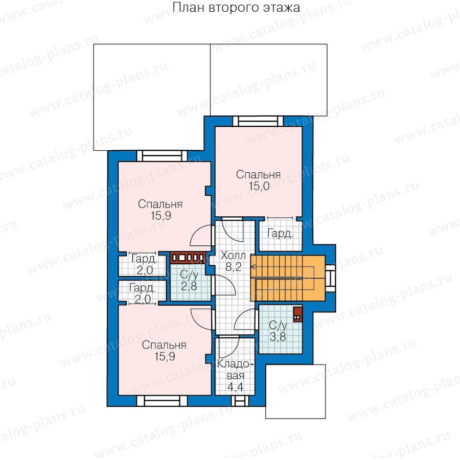 План 2-этажа проекта 58-45A