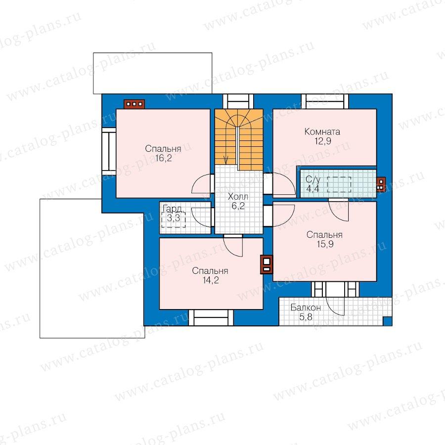 План 3-этажа проекта 57-63BL