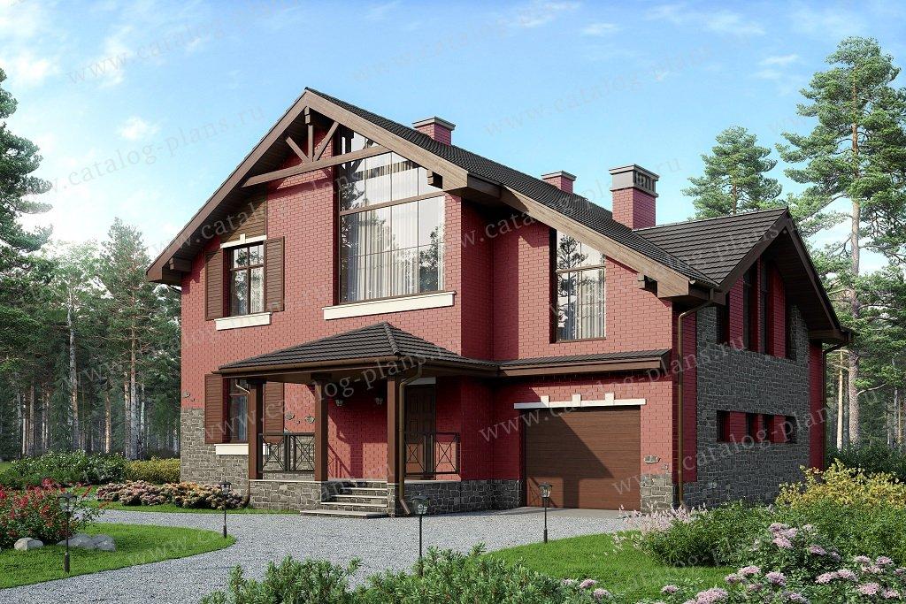 Проект жилой дом #57-22AL материал - газобетон, стиль скандинавский