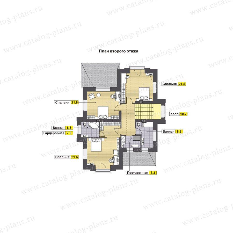 План 2-этажа проекта 47-72L