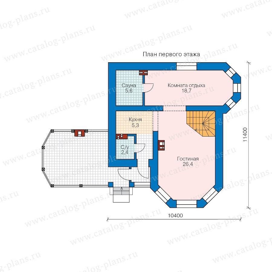 План 1-этажа проекта 62-14L