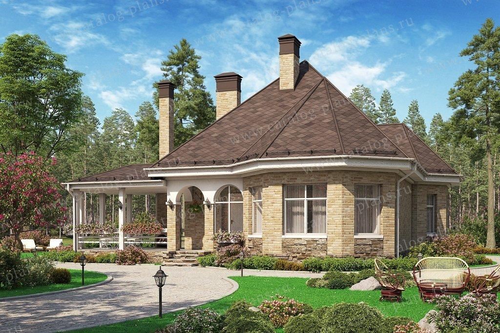 Проект жилой дом #62-14L материал - газобетон, стиль