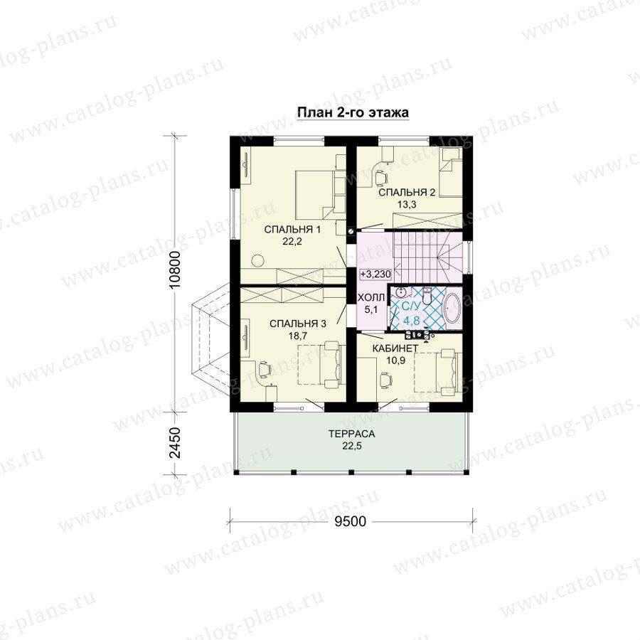 План 2-этажа проекта 61-16