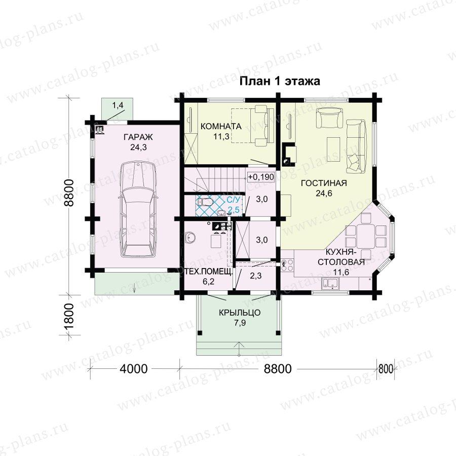 План 1-этажа проекта 13-79B