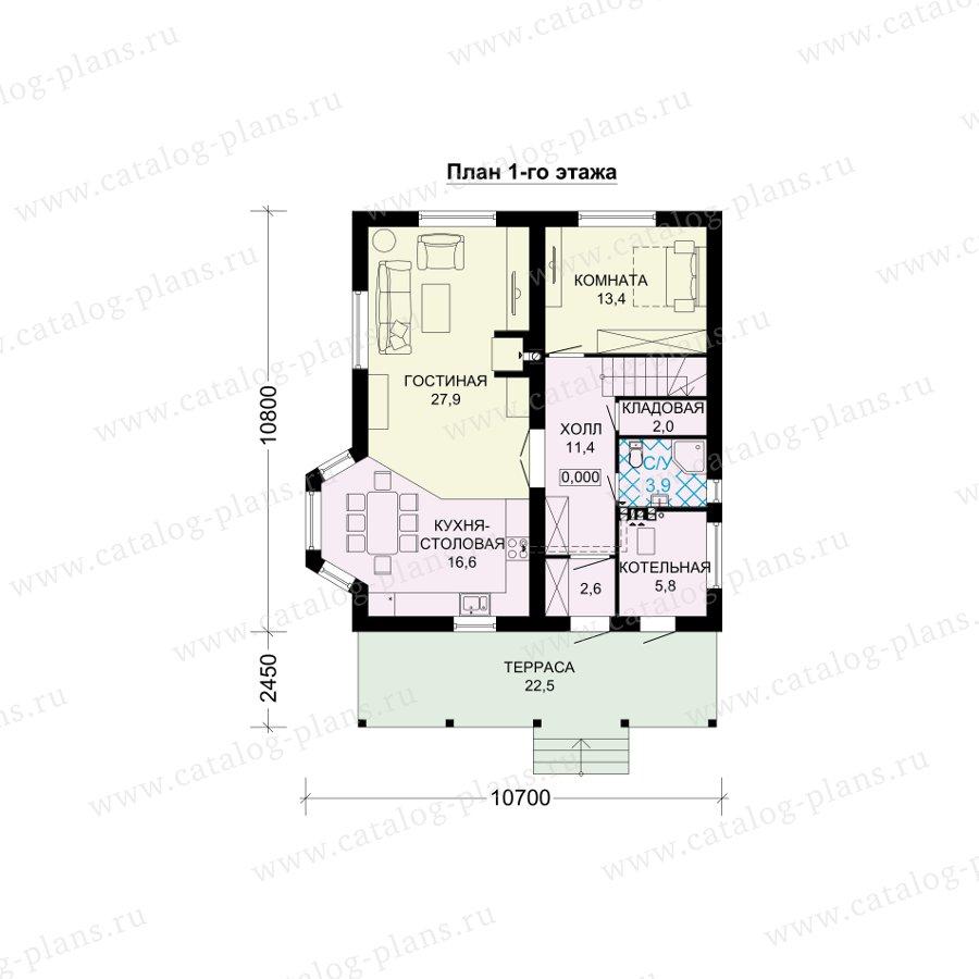 План 1-этажа проекта 61-16