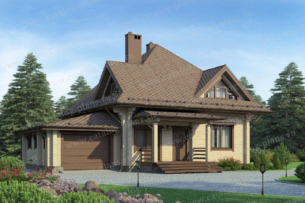 Проект жилой дом #13-79B материал - дерево, стиль