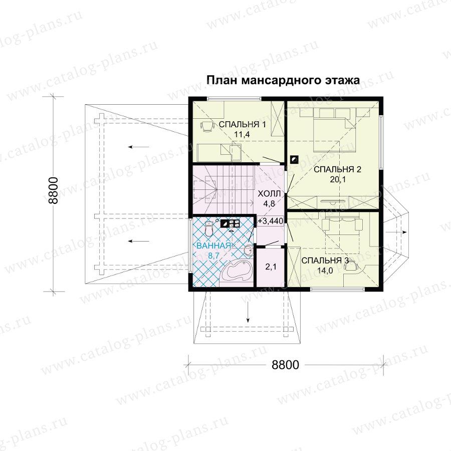 План 2-этажа проекта 13-79B