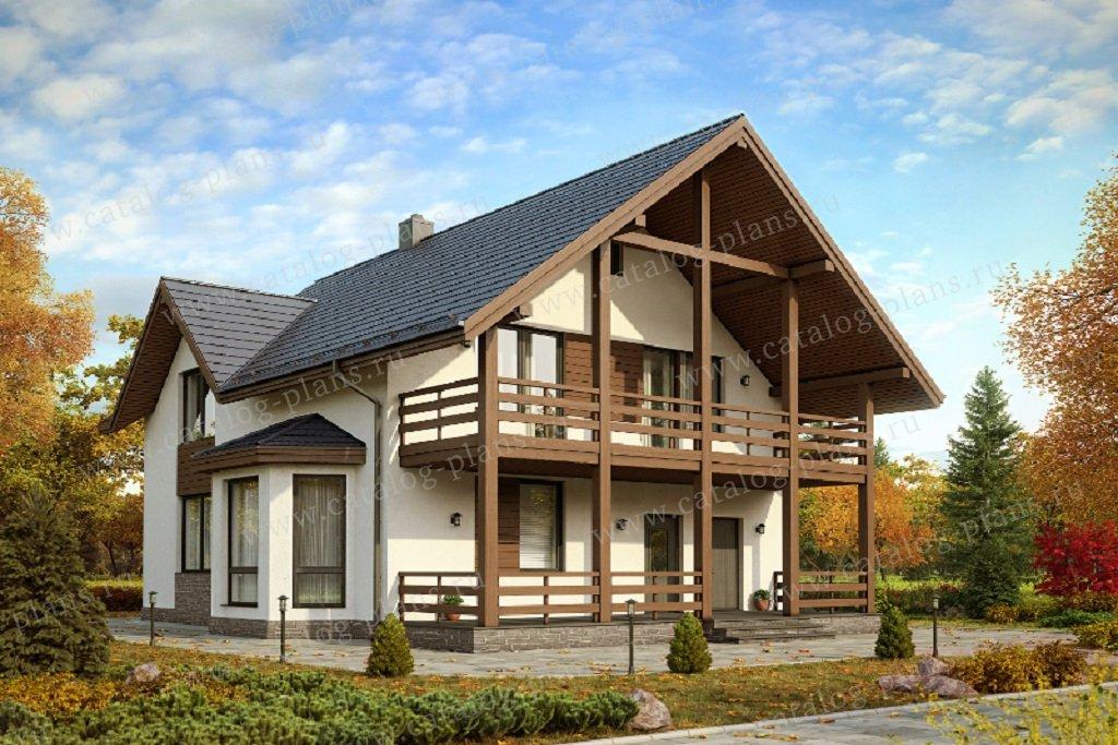 Проект жилой дом #61-16 материал - газобетон, стиль
