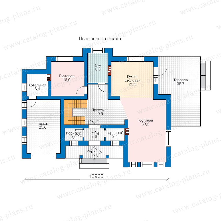 План 1-этажа проекта 58-10DL